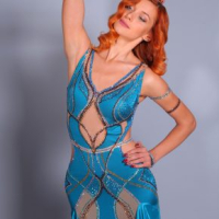 Great Gatsby Inspired Smooth Gown