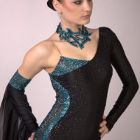 Black and Emerald Standard Gown