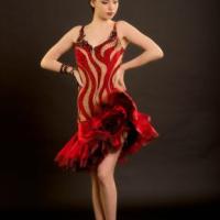 Black Rose Latin Gown