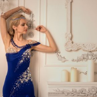 Royal Blue Smooth Gown