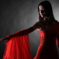 Red and Gold Standard Gown